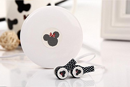 Disney Minnie headphone earbuds with macaroon carrying case