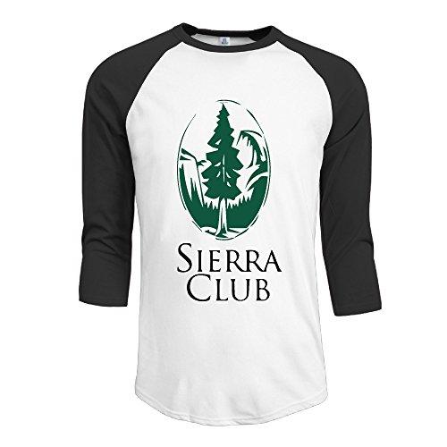 Man United States Sierra Club Logo Contrast Baseball 3 4 Raglan Sleeve T Shirt White