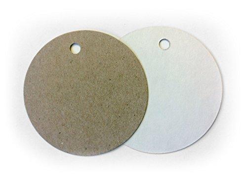 es - Classic Circle - White and Kraft Paper ()