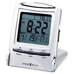 Howard Miller - Distant Time Traveler Alarm Clock 2-1/4 Silver 1 Aaa (Incl) Product Category: Office Furniture/Clocks