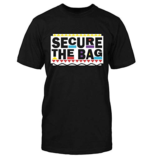 Penguin Tees Secure The Bag Black Girl Shirt]()