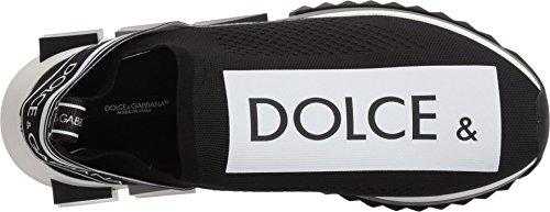 Dolce & Gabbana Herre Neopren Sneaker Sort / Hvid 34ii7qaTP