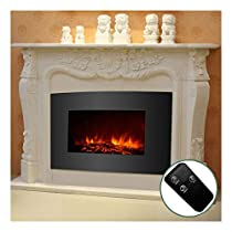33 1500W Electric Fireplace Wall Mount Heater w/Remote Adjustable XL Large