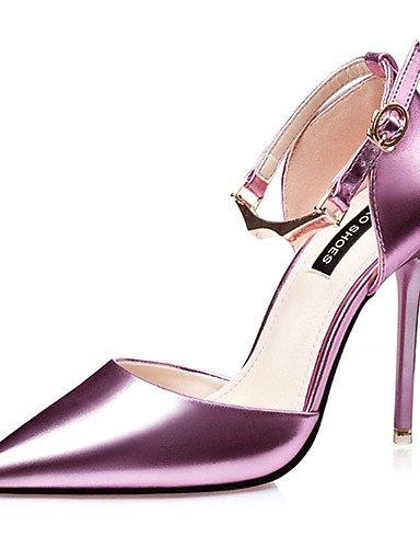 US6 stiletto pu ® ZQ tacones di mujer Rosa Scarpe 39 casual tac EU Argento ¨ tacones n negro Nero CN38 EU36 UK4 UPUAx