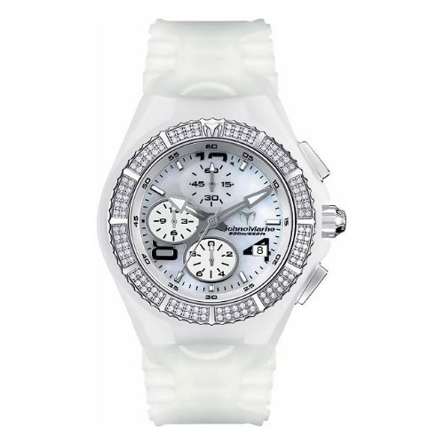 TechnoMarine Unisex 108024 Cruise Diamond Chrono White Polyurethane Watch