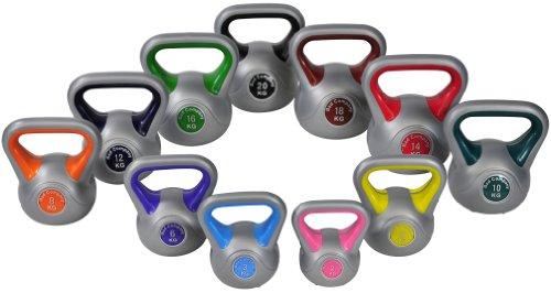 Color-Line Kettlebell Kugelhantel Hantel Gewicht Handgewicht inkl. deutschsprachiger bebilderter Trainingsanleitung - Größen frei wählbar (St.), 08 Kg Kettlebell (St.)