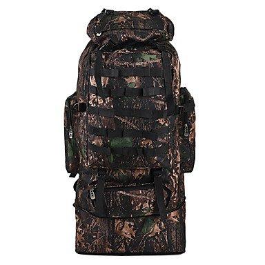 ZHUDJ 90L Ampio Camouflage Zaini Travel Duffel Zaino Organizer Per Uomini Wonen Escursioni & Camping Zaino Jungle Camouflage Borse Sportive,Nero
