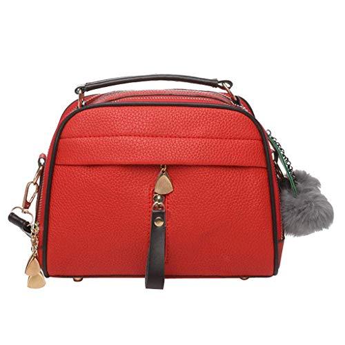 Home Meidi Donna Red Tracolla Cerniera Con Borsa Red A color Per qqFdrx7Rw