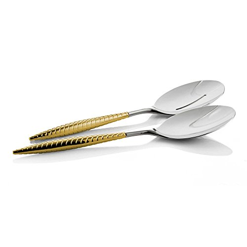 Nambe Braid 2 Piece Gold Salad Server Set