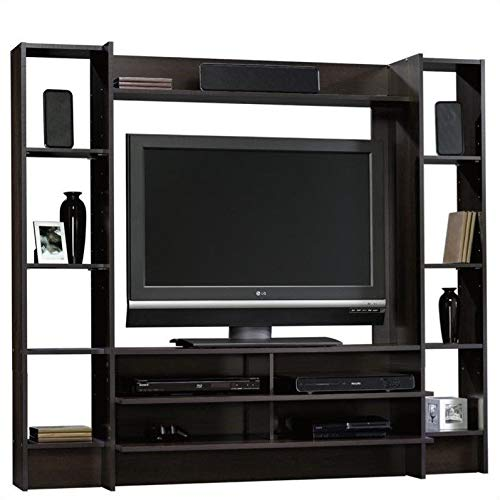 Sauder Beginnings Entertainment Wall System, L: 66.30'' x W: 15.51'' x H: 58.50'', Cinnamon Cherry finish by Sauder