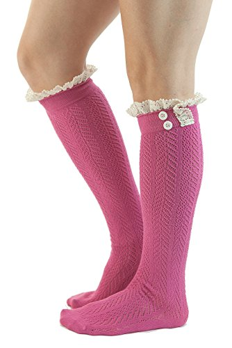 UPC 617561347811, The Original Button Boot Socks with Lace Trim Boutique Socks by Modern Boho Rose One Size