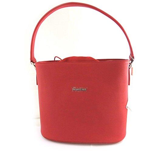Bolso de cuero 'Jacques Esterel'rojo.