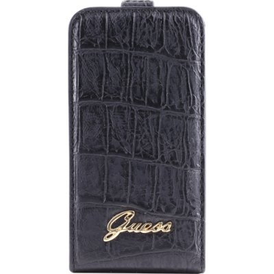 Guess GUFLP4CMB Flip Case für Apple iPhone 4 croco schwarz