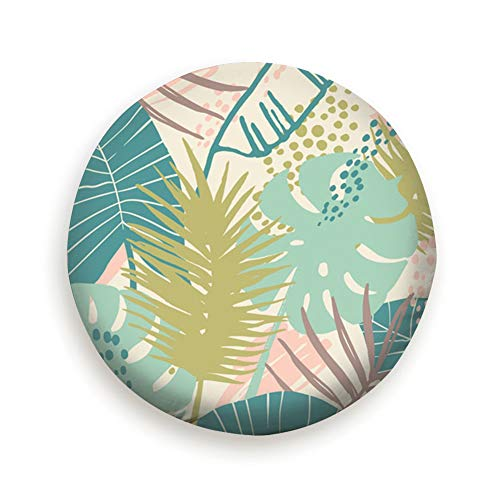 X-Large Spare Tire Cover Exotic Tropical Plants Abstract Polyester Water Proof Dust-Proof Universal Spare Wheel Tire Cover Fit for Jeep,Trailer, Rv, SUV and Many Vehicle