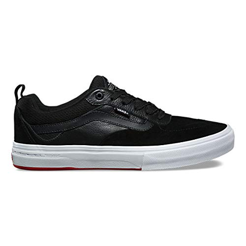 d42c444fa81a50 Vans Kyle Walker Pro Black Red Skateboarding Suede Leather Canvas Shoes