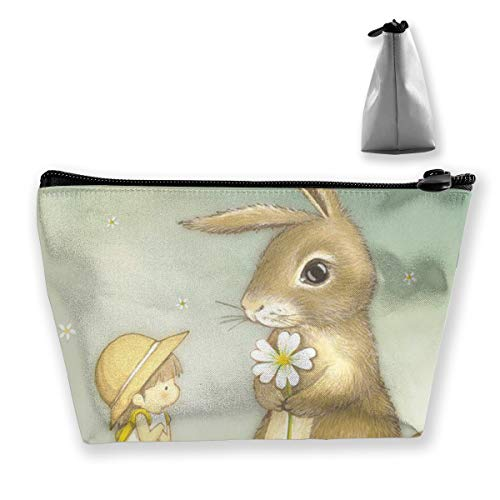SLADDD1 Baby and Rabbit Makeup Pouch Toiletry Cosmetic Bag Clutch - Multifuncition Storage Organizer with Zipper