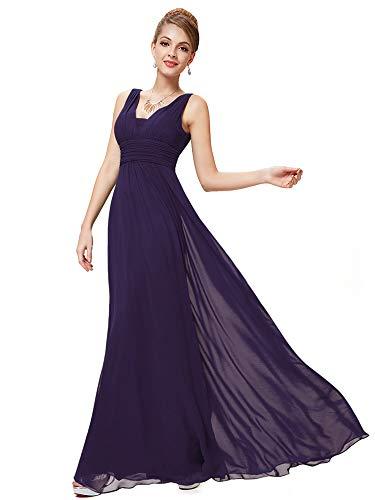 (Ever-Pretty Floor Length Chiffon Evening Dresses for Women 10US Purple)