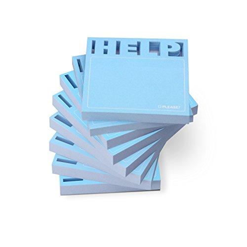 Knock Knock Desk Pad Sticky Note Pad, Die Cut Help (12563-8)