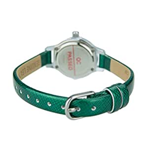 Fitron FT8303LSW Ladies Watch Colour Green Genuine Leather Dial Colour White