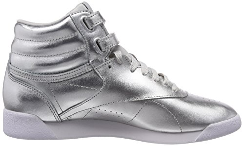 Silber Hi Freestyle Damen Reebok Silver Gymnastikschuhe Metallic Metsteelwhite 1EXPFU