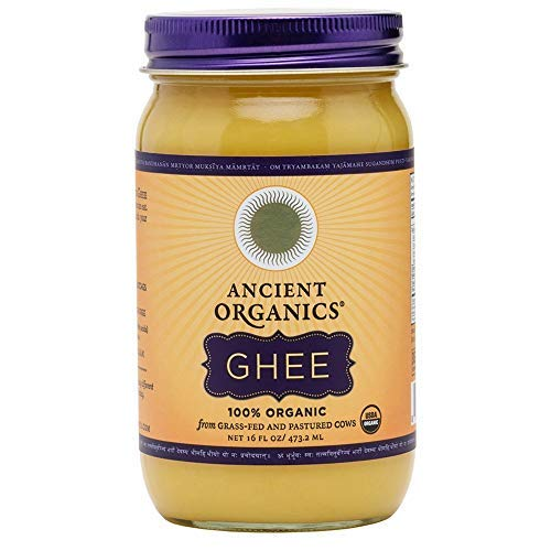 ANCIENT ORGANICS 100% Organic Ghee from Grass-fed Cows, 16oz