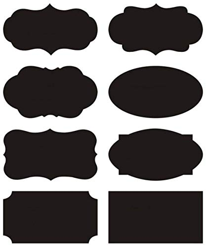 AxeSickle Waterproof Black 96 pcs Chalkboard Stickers Large Labels, Adhesive Blackboard Stickers for Mason jar Label, Food Storage Labels, Organize Your Home and Kitchen, Office School can use.