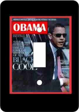 President Barack Obama Switch Plate-Black (Barack Obama Light)