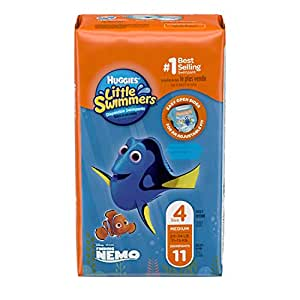 Huggies Little Swimmers Disposable Swimpants, Size: Medium (11-15KG), 11 Pack - Packaging May Vary