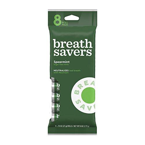 Breath Savers Mint Candy - BREATH SAVERS Mints, 8 Rolls (Pack of 5), Spearmint