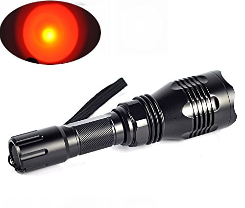 TUOFENG Portable Flashlights RED Light 250 yards Long Distance Lighting Coyote Hog Night Hunting Light Flashlight