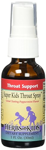 Herbs for Kids Super Kids Throat Spray, 1 Ounce