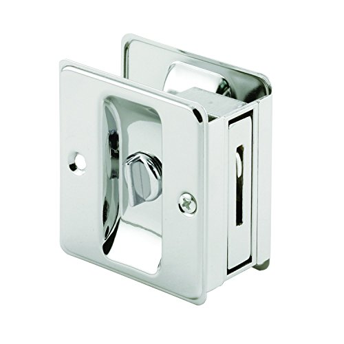 (Prime-Line MP6773 Pocket Door Privacy Lock with Pull, Chrome Plated, Pack of 1)