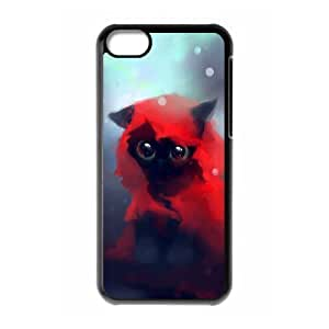 Diy Beautiful Cute Little Cat Custom Cover Phone Case for iphone 5c Black Shell Phone [Pattern-2]