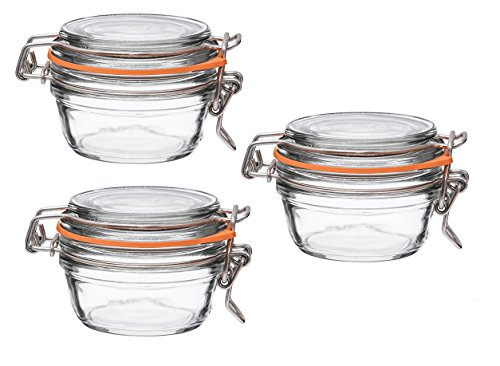 per Terrine Wide Mouth Jar - 125 Grams with 70 mm Gasket (Pack of 3) ()