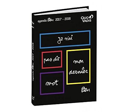 Quo Vadis Ben - Agenda Textagenda escolar (12 x 17 cm 2017 ...