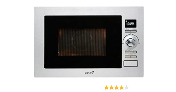 Cata MC 25 D - Horno microondas con grill, 900 W, color plateado: Amazon.es: Hogar