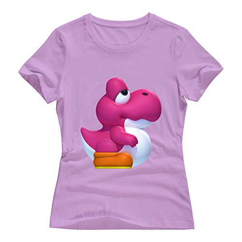 Beautiful Game Soccer T-shirt - Pink VAVD Women's Super Mario Bros Roundneck T Shirt Size M