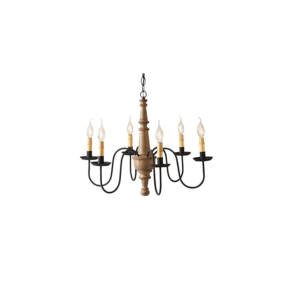 Irvin's Country Tinware 9156TPWD - Harrison Chandelier in Pearwood Color