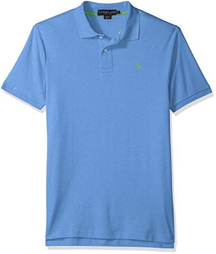 U.S. Polo Assn. Mens Solid Interlock Short-Sleeve Shirt
