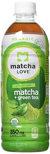 : Matcha Love Organic Matcha and Green Tea, Traditional, 470 ml  (Pack of 12), Unsweetened, Zero Calories, USDA Organic, No Artificial Preservatives, Antioxidant Rich, BPA Free, Packaging may vary