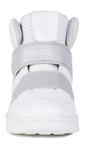 A XLED J Basket B Geox White Enfant 0q8RXp