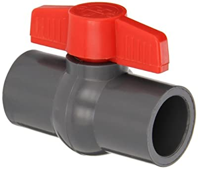 "Hayward PVC Ball Valve, Gray, One Piece, EPDM Seal, 1"" Socket by Hayward"