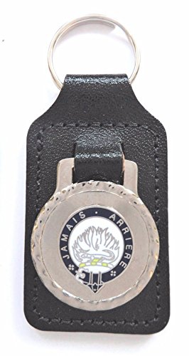 (Douglas Surname Scottish Clan Name Crest Enamel and Metal Key Ring / Fob)