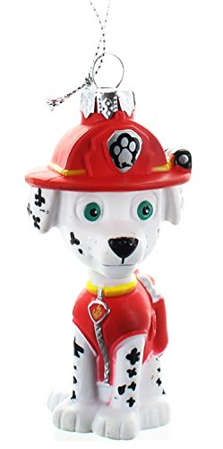 Paw Patrol Marshall Dalmatian Firefighter Puppy Blow Mold Christmas Ornament