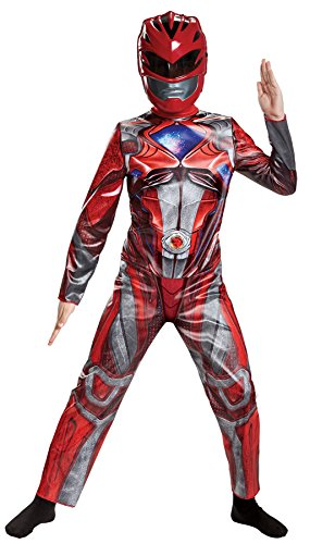Power Ranger Movie Classic Costume, Red, Medium (Cool Halloween Movie Characters)