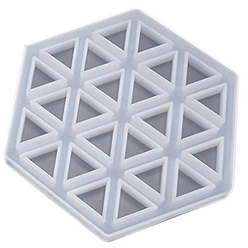 Andifany Coaster Concrete Silicone Mould Diamond Stripe Shaped Design Diy Epoxy Resin Gypsum Crafts Cement Tray Mold B