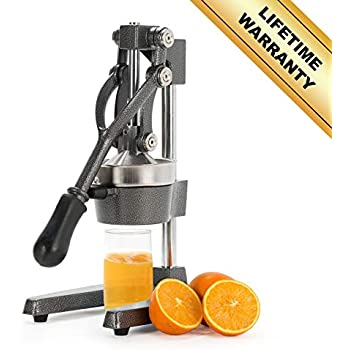 CO-Z Commercial Grade Citrus Juicer Hand Press Manual Fruit Juicer Juice Squeezer Citrus Orange Lemon Pomegranate (Gray)