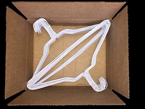 100 Homeland Goods Wire Hangers 18 Standard White Clothes Hangers