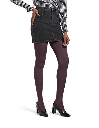 HUE Women's Luster Tights with Control Top, Currant, 2 by HUE