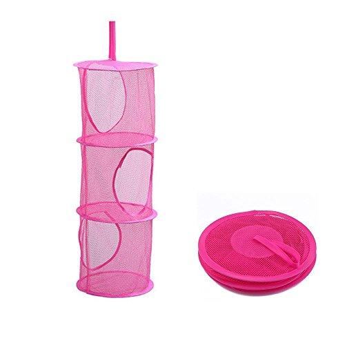Aolvo Collapsible Mesh Hanging Storage Organizer Kids Toy St